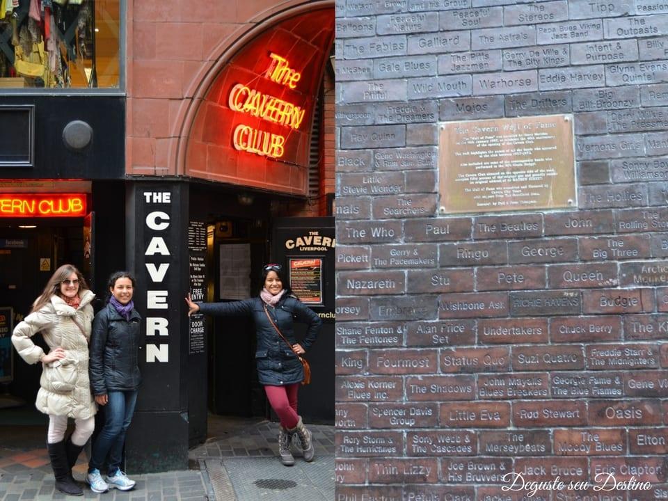O famoso Cavern Club com o seu muro da fama, (essas duas lindas na foto são as minhas queridas primas - adoramos viajar juntas desde pequenas, rs).