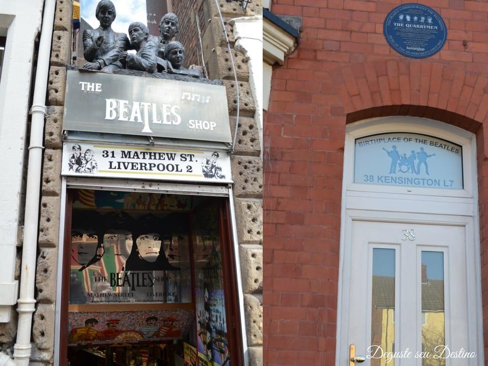 Uma das tantas lojas de souvenir lindinhas de Liverpool e o estúdio em que os Beatles gravaram o seu primeiro CD (o nome da banda ainda nem era The Beatles naquela época, era The Quarrymen).