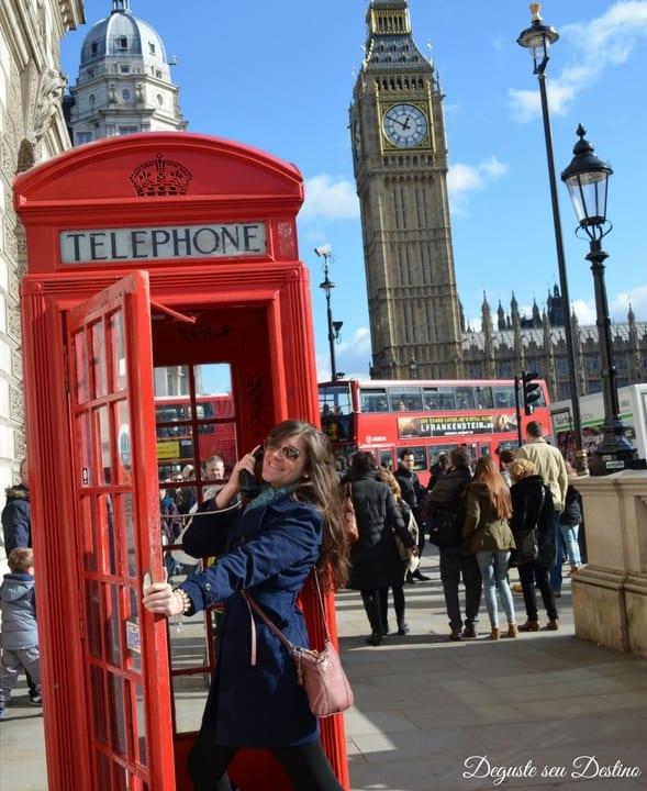 Típica foto em Londres com o Big-Ben ao fundo.