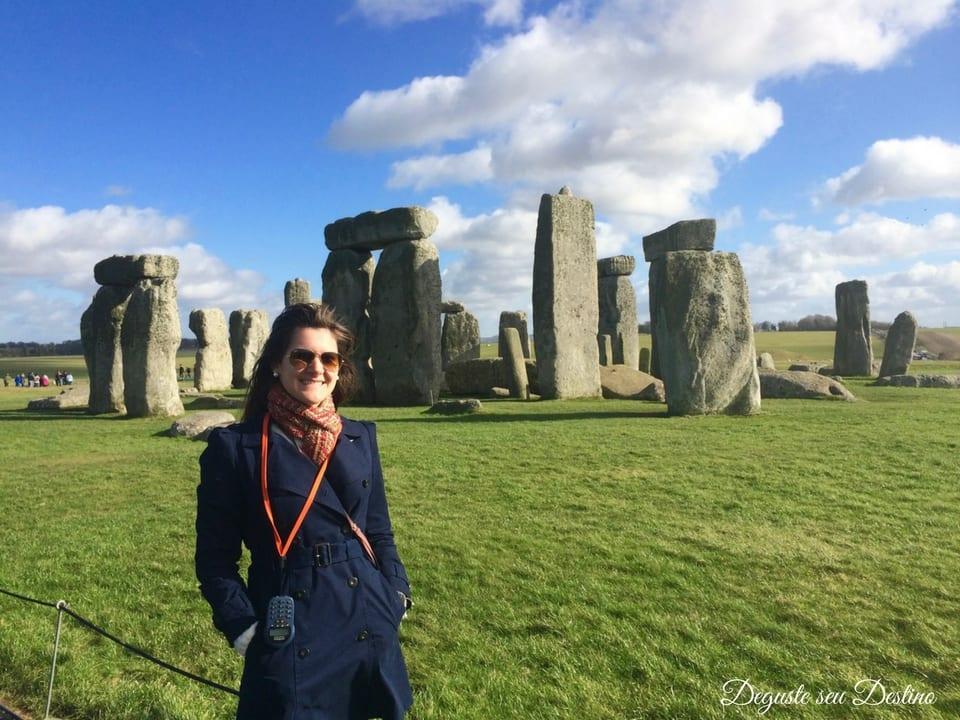 Passeio com audio-guia pelo Stonehenge.