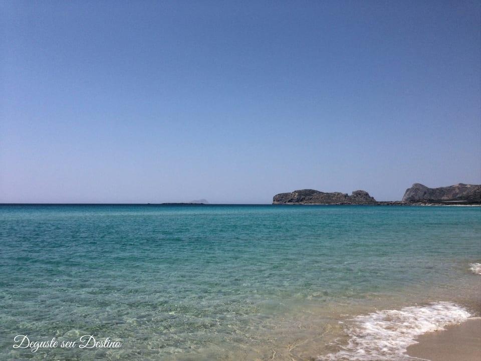Praia de Falasarna - minha praia favorita na ilha de Creta.