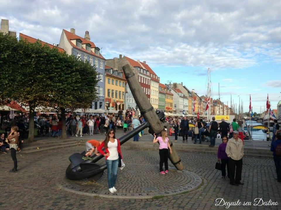 O canal Nyhavn estava muito cheio e ficou impossível tirar uma foto legal lá, a melhorzinha que tenho é essa =(