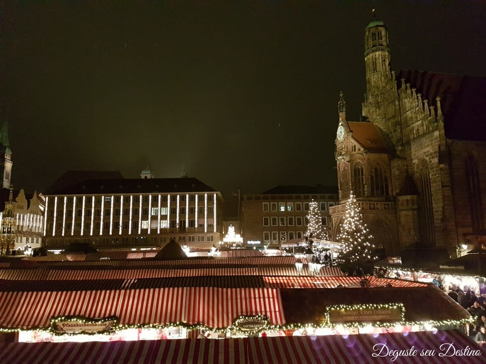 Um dos lindos mercados de Natal em Nuremberg.